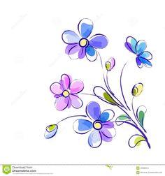 Resultado de imagen para violeta flor vector