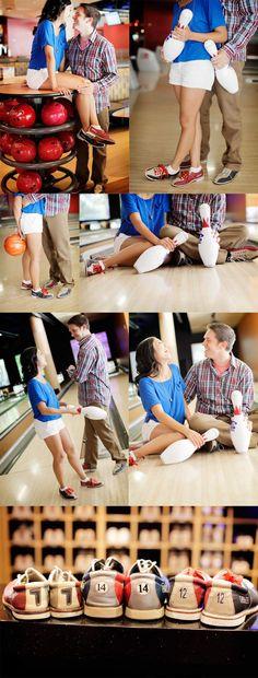 bowling engagement shoot