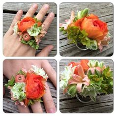 botanical jewelry fresh floral ring