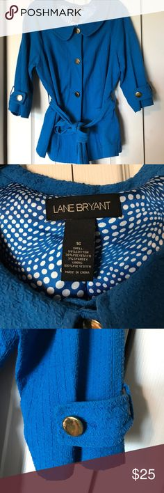 Cute jacket size 16 Lane Bryant size 16 jacket will spice up your wardrobe for sure! That gorgeous blue will pop against a pair of black slacks 😍. Questions and offers welcome! Lane Bryant Jackets & Coats Blazers