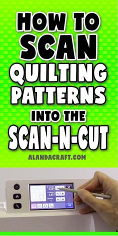 Brother Scan n Cut: How to Scan Quilting Patterns & Add a Quarter Inch Seam. Step-by-step tutorial on how to scan paper quilting patterns into your ScannCut machine. Brother Scanncut2, Scan N Cut Projects, Paper Cutting Machine, Brother Embroidery Machine, Paper Embroidery, Brother Scan And Cut, Quilting Tips, Quilt Patterns, Blog