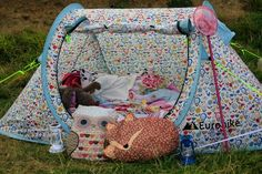 Gorgeous little popup tent used by my friends 7 year old. She loved it! Kids can glamp too! #camping #popuptent #Eurohike