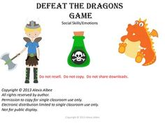 Defeat the Dragons GAME - Social Skills and Emotions