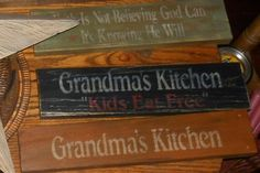 from Booth555.com : Stenciled Wood Signs