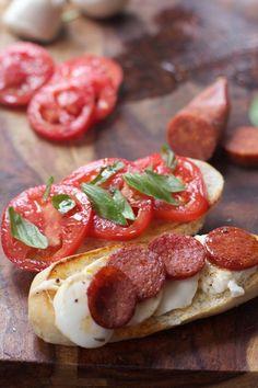 Margherita Pepperoni Caprese Sandwich