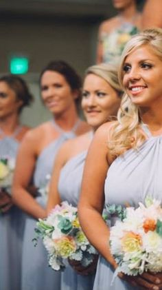Bridesmaids dresses in STEEL from Little Borrowed Dress