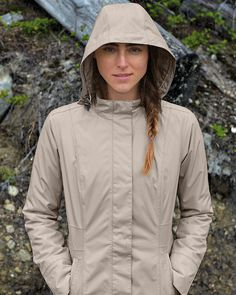 Women's Girl On The Go® Insulated Trench Coat | Waterproof, breathable, and windproof. Detachable liner adds warmth when the temperature drops.