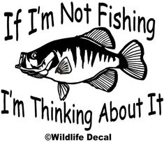 Crappie Decal MD If Im Not Fishing Im Thinking About - Monogram Fishing Shirt - . - Crappie Decal MD If Im Not Fishing Im Thinking About – Monogram Fishing Shirt – Ideas of Monogr - Fishing Signs, Fishing Quotes, Fishing Humor, Fishing Games, Fishing Tackle, Fishing Crafts, Fishing Vest, Fishing Chair, Hunting Quotes