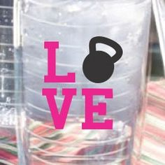 Personalized Tumbler Crossfit Love 26oz by ThreeLindys on Etsy, $19.00