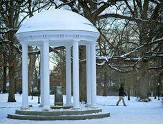 I just love snow ❤️ UNC Unc Chapel Hill, Unc Tarheels, University Of North Carolina, Tar Heels, Live Happy, Carolina Blue, Snow, Sweet, Candy