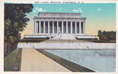 New Lincoln Memorial, Washington D.C. - Vintage Postcard - Unused (C)