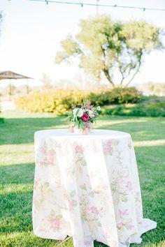 La Tavola Fine Linen Rental: Maya White | Photography: Mirelle Carmichael, Event Planning: Lara Kreutner, Floral Design: April Flowers, Calligraphy: Rosey Calligraphy, enue: Santa Margarita Ranch, Rentals: All About Events