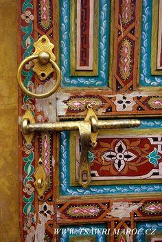 beautiful Moroccan door.
