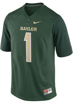 b759a63b51b Nike Baylor Bears Mens Green Replica Football Jersey. Number 1 GamePenn  State ...