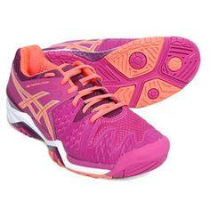 Tênis Asics Gel Resolution 6 - Pink+Laranja
