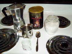 Making Cuban Coffee with a Moka pot.