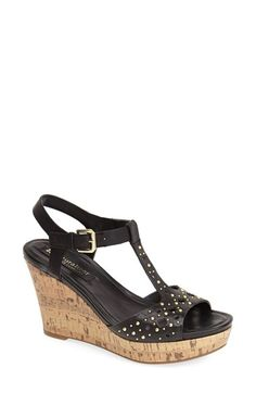 Naturalizer 'Riley' T-Strap Wedge Sandal (Women) available at #Nordstrom