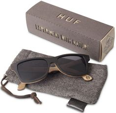 Huf Sunglasses made of recycled skateboard decks