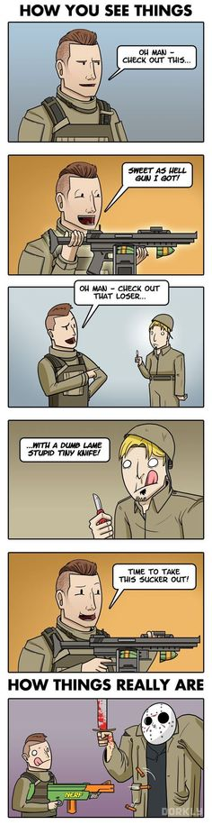 Call of duty logic: