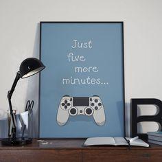 PlayStation 4 Controller  vijf meer minuten  door TheosLittleShop