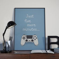 Playstation 4 Controller  Five More Minutes  by TheosLittleShop