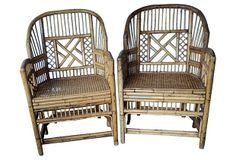 Bamboo Armchairs