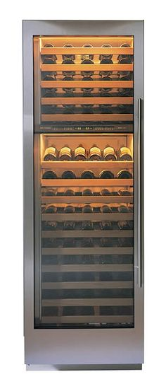 """Sub Zero Wine Cooler 30"""" x 84"""" x 24""""   146 bottles (realistically 120) Dual cooling zones, soft light  $6995"""