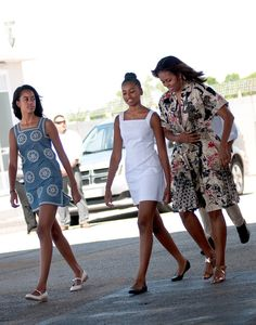 Ciao, Venice from Michelle Obama's Best Looks  The Obama ladies finished the Italian leg of their European tour in high style, of course.