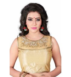 0319d090545a44 Buy Greenvilla Designs Gold Silk Readymade with Pad Blouse online shopping  | Blouse Designs online in