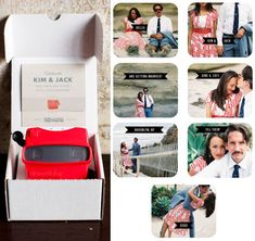 View-master photo wedding invites! So cute! (So expensive! $3450 for 100!)