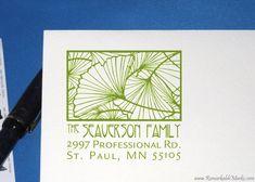 ginko address stamp