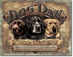 Dog Day Acres Tin Sign