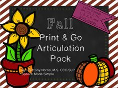 NO PREP Fall themed articulation pack- Later sounds