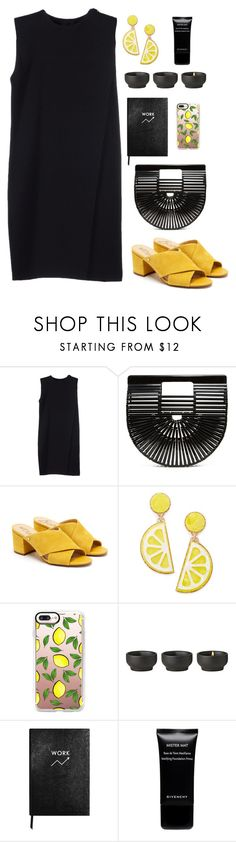 """""""black & yellow"""" by katerina-rampota ❤ liked on Polyvore featuring Alexander Wang, Cult Gaia, Sam Edelman, Celebrate Shop, Casetify, Stelton, Sloane Stationery and Givenchy"""
