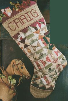 """""""Country Patchwork Stocking"""" Christmas Sewing PATTERN"""