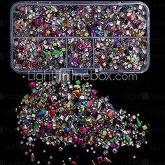 5000PCS Mix Colorful Studs Rviets Box Nail Art Decoration - USD $14.44