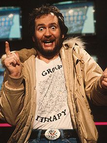 Literally bumped into him durring a visit to the radio station.. nearly knocked him over! His manic high energy was so contagious. Kenny Everett, used to make me cry with laughter, bless him!