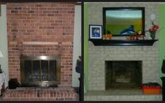 Perfect Paint Brick Fireplace To Look Like Stone Gallery