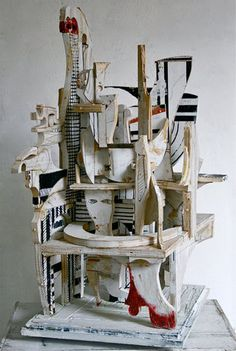 Mikhail Gubin's collage sculpture Collage Sculpture, Abstract Sculpture, Wood Sculpture, Collages, 3d Collage, Assemblage Art, Expo, Objet D'art, Art Plastique