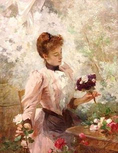 The Bouquet ~ Victor Gabriel Gilbert ~ (French: 1847-1933) save by Antonella B. Rossi