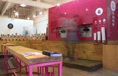 Yogism Frozen Yogurt by Notion Design, Dublin store design branding bar and restaurant