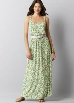 Blurred Ikat Animal Print Maxi Dress  $79.50 at Loft.com