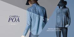 Camisa Feminina estampa Poá, estampa retrô, garante estilo e sofisticação para este Outono Inverno na medida certa. Camisa print, peça que valoriza qualquer produção!