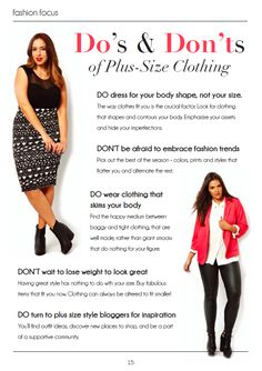 Plus size fashion style tips and tricks.