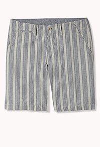 Multi-Striped Linen-Blend Shorts #Festival2013 #21Men #Summer