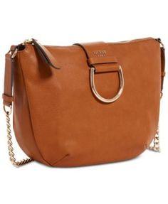 a8ef14285aa1 GUESS Fynn Medium Chain Strap Crossbody Hobo Handbags   Accessories - Macy s