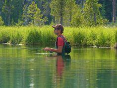 Fly fishing on Hosmer Lake by Powskichic of Bend