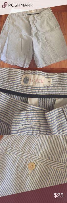 J. crew Blue seersucker shorts Size 36- in excellent condition J. Crew Shorts