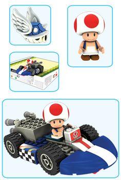 KNEX Mario Kart Wii Building Sets - Toad Kart Building Set (OMG NEED.)