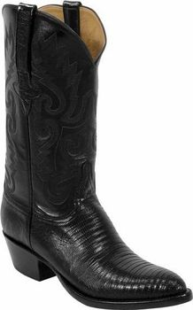 Mens Lucchese Classics Black Lizard Custom Hand-Made Cowboy Boots L1211